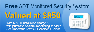 Free ADT-Monitored Security System